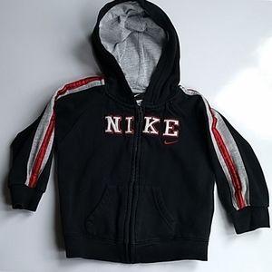 Nike front zipper hooded sweatshirt